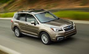 subaru forester red 2017 2017 subaru forester gets minor updates u2013 news u2013 car and driver