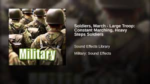 soldiers march large troop constant marching heavy steps