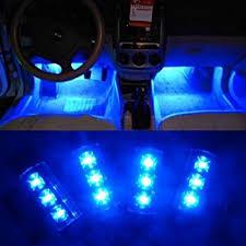 Interior Car Led Amazon Com Docooler 4x 3 Led Car Charge 12v Glow Interior