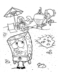 spongebob squarepants coloring pages 18049 bestofcoloring