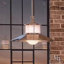 Nantucket Ceiling Light Uql2532 Nautical Indoor Pendant Light 9 H X 14 W Brushed Nickel