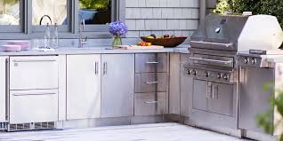 Metal Cabinets Kitchen Kitchen Impressive Awesome Stainless Steel Outdoor Kitchens