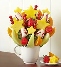 fruit bouqets for the of the baseball by fruit bouquets nancy s floral