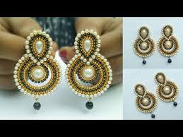 designer earrings how to make designer earrings how to make paper earrings