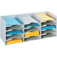 Desk Organizer Shelf by Horizontal Desk Organizer 15 Compartments In File And Mail