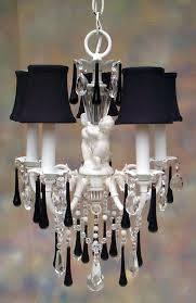 Chandelier With Black Shades I Lite 4 U Shabby Chic Style Mini Chandeliers U0026 Lighting