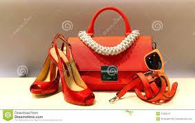 Orange Accessories Ladies Shoes Handbag And Accessories Stock Photo Image 41806121