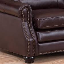 venezia leather sectional and ottoman venice chocolate brown curved top grain leather sectional sofa