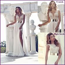 high neck wedding dresses charming front split v neck high neck all wedding