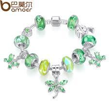 european charm bracelet beads images Buy diy murano silver european charm bracelet green beads glass jpg