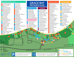 Map Of West Indies Grace Bay Beach Providenciales Visit Turks And Caicos Islands