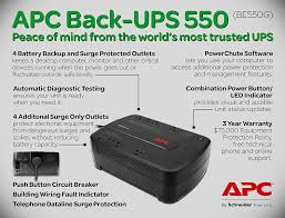 amazon com apc back ups 550va ups battery backup u0026 surge