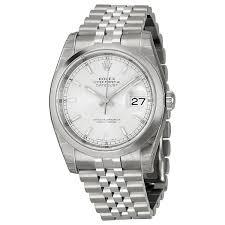 silver rolex bracelet images Rolex datejust 36 silver dial stainless steel jubilee bracelet jpg
