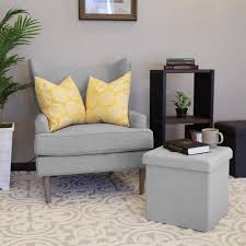 seville classics foldable storage bench ottoman charcoal gray seville classics light grey storage ottoman web368 the home depot