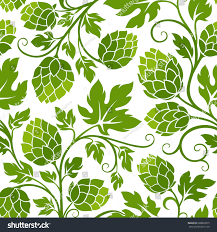 hop seamless pattern ornamental background brewery stock vector