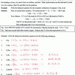 writing chemical equations worksheet balancing chemical equations