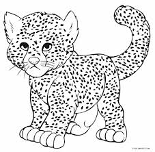 beautiful cheetah color page 80 on free coloring book with cheetah