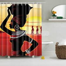 details about bathroom shower curtain waterproof panel african