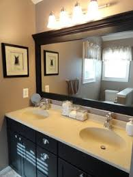 Update Bathroom Lighting Bathroom Mirror Redo Finished My Version Of This Yesterday And I