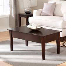 formal living room with brown minimalist coffee table next to
