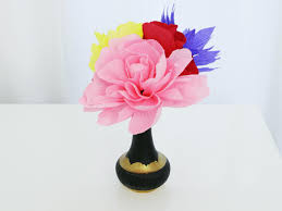 Drawings Of Flowers In A Vase How To Make Flowers Using Crepe Paper Hgtv