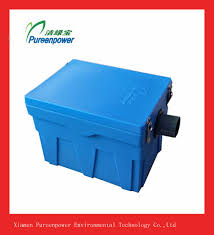 high quality small size plastic grease trap for household kitchens
