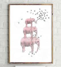 aliexpress com buy elephant with butterfly sketch canvas