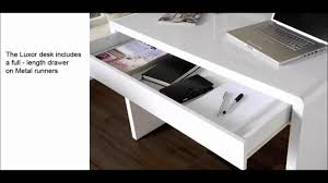 Computer Home Office Desk by Executive Luxor Luxury Computer Home Office Desk Workstation Youtube