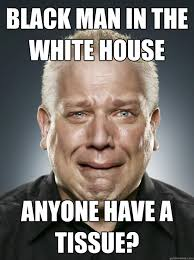 Crying Black Man Meme - black man in the white house anyone have a tissue crying beck