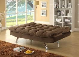 Plush Sofa Bed Homelegance Jazz Click Clack Sofa Bed Chocolate Textured Plush