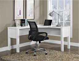 L Shaped Desk White Furniture Stunning L Shaped Desk With Hutch For Office Or Home