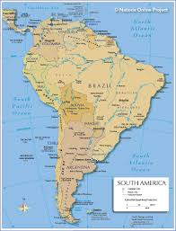 Blank South American Map by Map Of South America Nations Online Project