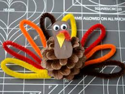 how to make a turkey out of a pine cone pinecone turkey diy craft