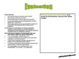 improving self esteem worksheets worksheets