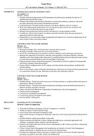 resume summary of qualifications for cmaa construction manager senior resume sles velvet jobs