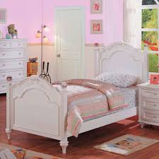 crystal bedroom collection full panel bed in white