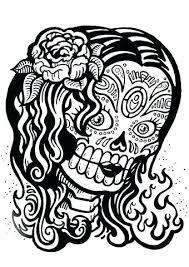 free printable sugar skull coloring pages goodpr me