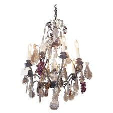 Crystal And Bronze Chandelier French Bronze And Crystal Grape Cluster Chandelier Circa 1830 For