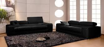 canap 2 places noir canapé en cuir italien 2 places deux fauteuils