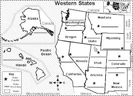 blank united states map with states and capitals western us state capitals to label classroom