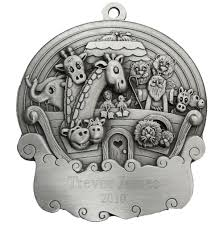 noah s ark engravable pewter ornament