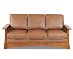 mission style leather sofa mission style leather sleeper sofa american made cl7016dqsl