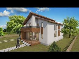 small attic style house design 100 square meters floor plan