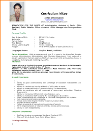 Curriculum Vitae Template Word Resume Template Format In Word Document Free Download For Job