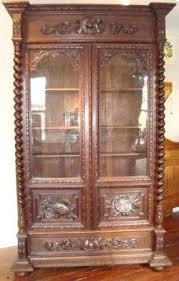 Antique Oak Bookcase With Glass Doors Wooden Bookcase With Glass Doors Oak Bookcases With Glass Doors