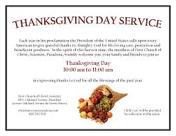 thanksgiving day proclamation news and events first church of christ scientist pasadena ca