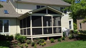 screen porch roof screened porch patio and fire pit custom designed by archadeck