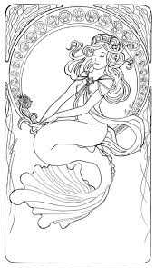 anime blue mermaid coloring pages freean kids coloring