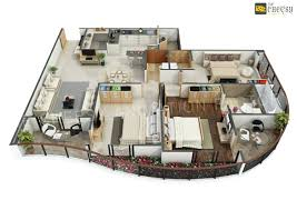 3d Floor Plan Online by 3d Floor Plan Design For Modern Home3d Planner Online Builder Free