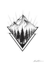 tattoo geometric outline mountain sketch drawing tattoo pinterest mountain sketch